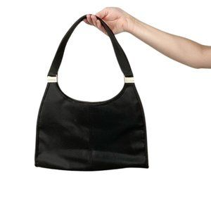 Express Black Nylon Snap Closure Shoulder Bag